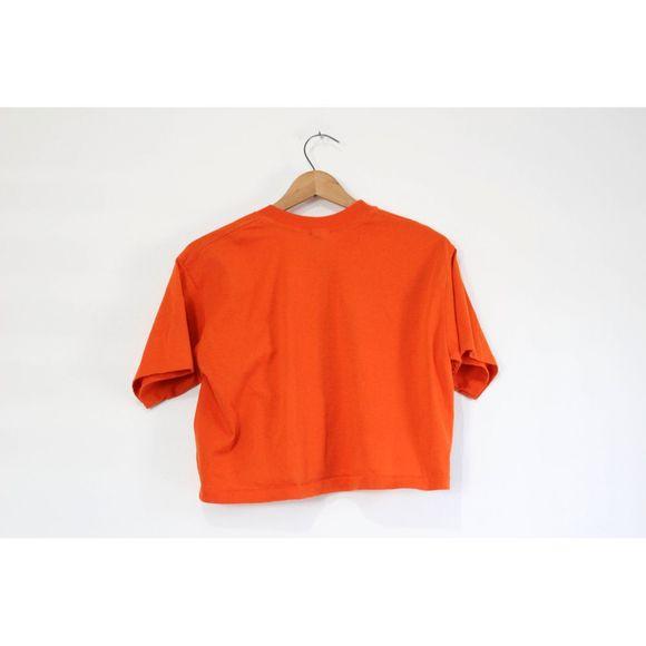 Vintage Leroux Fuzzy Navel Crop Top T Shirt
